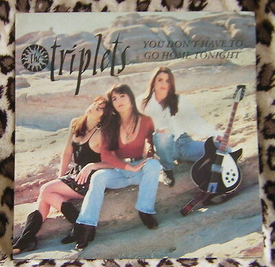"Triplets - You Don't Have to Go Home Tonight 12"" Vinyl Single"