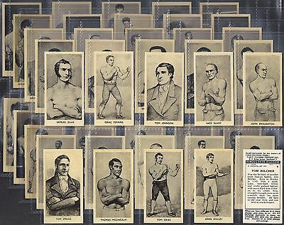 Cartledge-Full Set- Famous Prize Fighters Boxing (Glossy Cream Print 50 Cards)