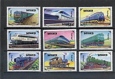 MONGOLIA 1997 SG 2589-97 Railway Locomotives -Set of 9 - MNH