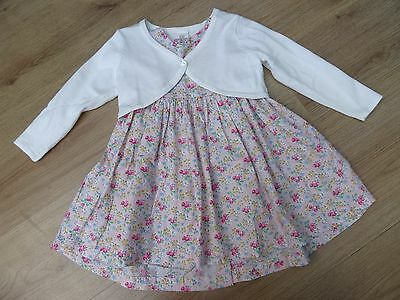 Baby Girls Next Age 12-18 Months Pretty Summer Party Dress + White Cardigan