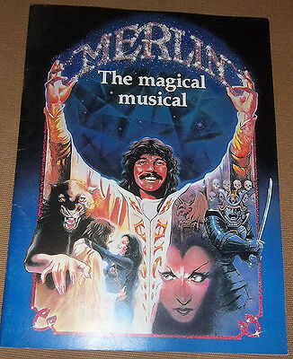 Merlin Broadway Musical Souvenir Program 1983 Henning Chita Rivera Nathan Lane