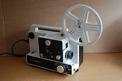 EUMIG MARK 610D SUPER 8 & STANDARD 8mm SILENT CINE FILM PROJECTOR- Serviced