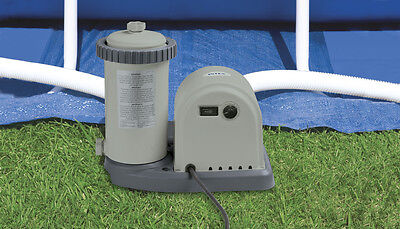 Intex Swimming Pool Filter Pump - 1500 Gallons/HR - Suitable for 18ft Pools