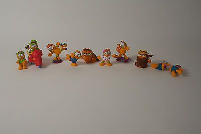VINTAGE 1978 1981 Garfield PVC SPORTS Toy Figures Lot  Hong Kong Of 10