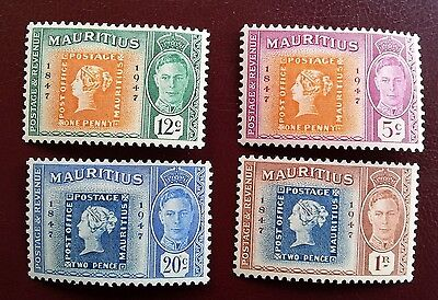 Mauritius George VI Stamp centenary Mounted Mint Stamps