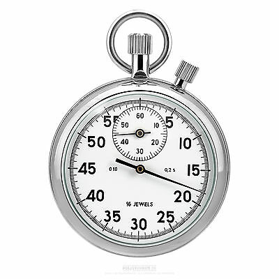 Analog Stopwatch, white, Agat Factory Russia - Timekeeper 2 Crowns
