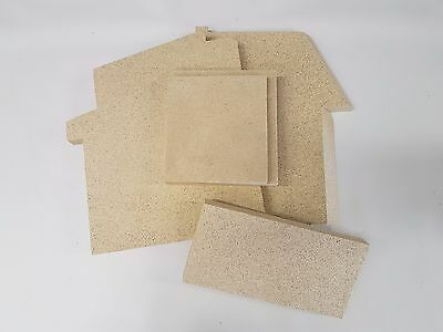 Aarrow Replacement Vermiculite Fire Bricks   All Models   Side   Back   Base