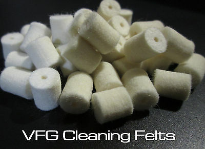VFG REGULAR felts for cleaning rod system --> 11 sizes available! in small box