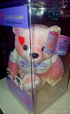 New Sealed Britney Spears Limited Edition Bean Bear #1 Pink 1999 08657/25,000