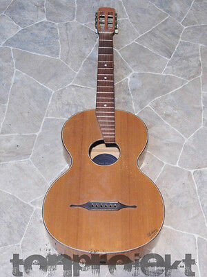 Project Antique uebosa Oswin August Uebel Parlor Guitar Germany~1930