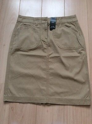 Ladies Knee Length Camel Skirt Size 10 BNWT From M&S