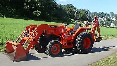 2008 Kubota L2800 4X4 Tractor With Loader And Backhoe..only 423 Hours