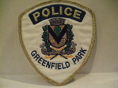 police patch  GREENFIELD PARK POLICE QUEBEC  CANADA  MYLAR