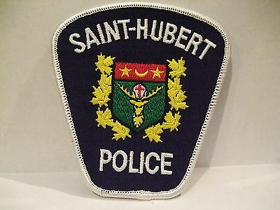 police patch  SAINT HUBERT POLICE QUEBEC  CANADA  NEWER STYLE