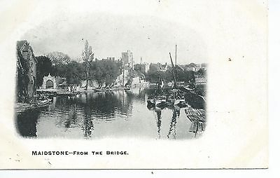 Printed postcard of Maidstone from the bridge .Kent in very good condition.