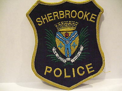 police patch  SHERBROOKE POLICE QUEBEC  CANADA  NEWER STYLE