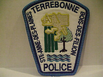 police patch  TERREBONNE POLICE QUEBEC  CANADA  NEWER STYLE