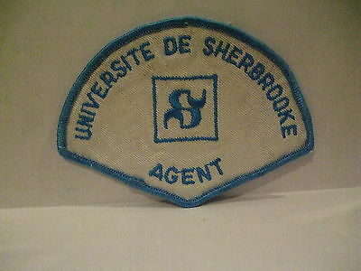 police patch  UNIVERSITY OF SHERBROOKE POLICE QUEBEC  CANADA  NEWER STYLE