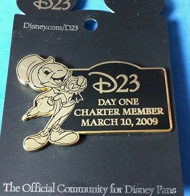 Jiminy Cricket D23 Day One Charter Member Disney Pin LE OC with Thank You Note