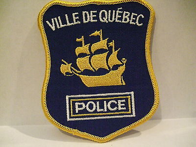 police patch  VILLE DE QUEBEC POLICE QUEBEC  CANADA  NEWER STYLE