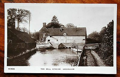 Pre 1918 Photo Postcard Rp Bucks. Amersham The Mill Stream & House
