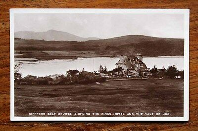 Vintage Photo Postcard Rp Kippford Golf Course Pines Hotel Vale Of Urr Unused