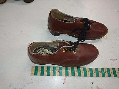 Vintage children's traditional clogs. Leather upper with wooden sole