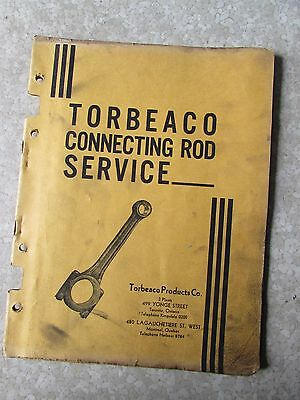 Vintage Torbeaco Connecting Service Catalog Service & Rod Forgings 1920's- 40's