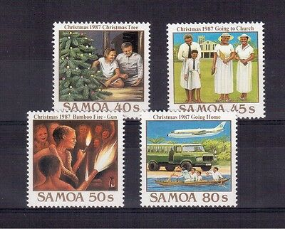 Samoa 1987 Christmas Set 4 Stamps #706/09 Mint Vf Nh !!