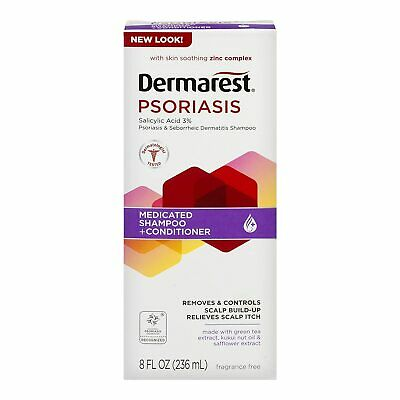 Dermarest Psoriasis Medicated Shampoo Plus Conditioner With Skin Smoothing 8 OZ