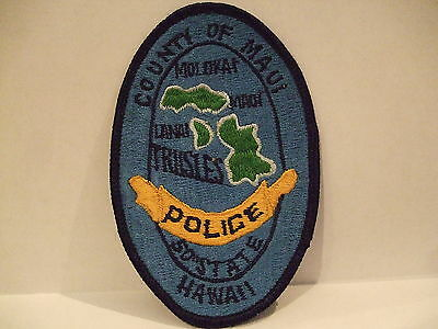 police patch  COUNTY OF MAUI POLICE TRI ISLES 50TH STATE POLICE HAWAII