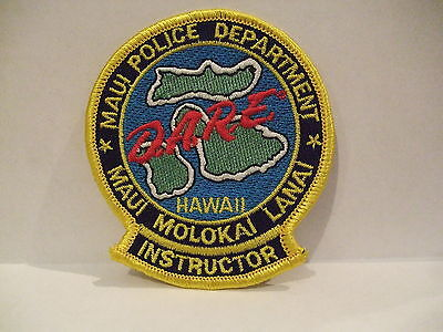police patch  MAUI POLICE DEPARTMENT DARE INSTRUCTOR POLICE HAWAII