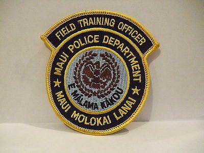 police patch  MAUI POLICE DEPT FIELD TRAINING OFFICER POLICE HAWAII