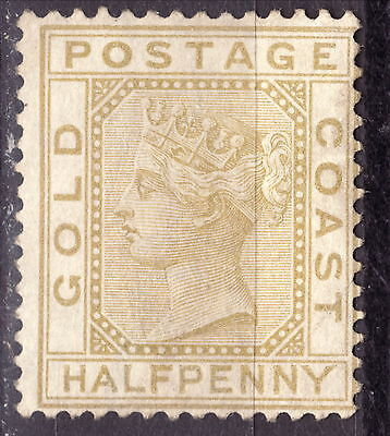 Gold Coast 1876 1/2 pence Blister MH no gum