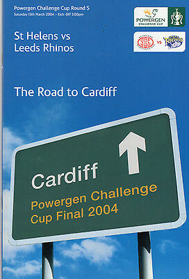 St.helens V Leeds Rhinos Cc Round 5 Rugby League Programme & Dvd 13-03-04