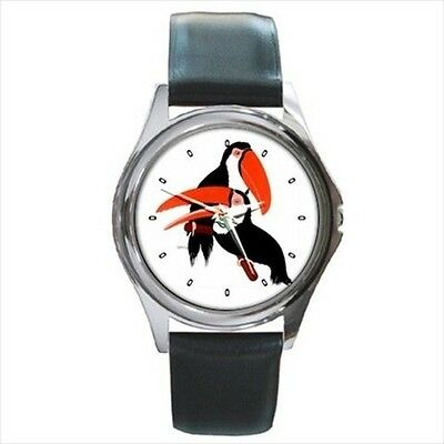 Toucan Birds Parrots Unisex Round Wrist Watch New