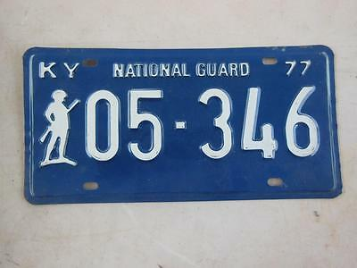 1977 Kentucky 05-346 National Guard License Plate Military Armed Forces Soldier