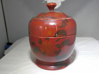 Antique Japanese lacquer tea caddy natsume, MEIJI