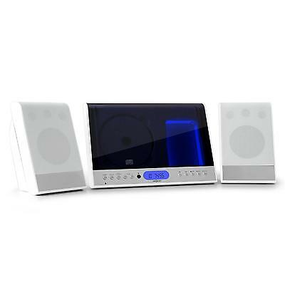 Oneconcept Vertical 90 Stereo Anlage Mp3 Cd Spieler Ukw Radio Tuner Usb Sd Weiss