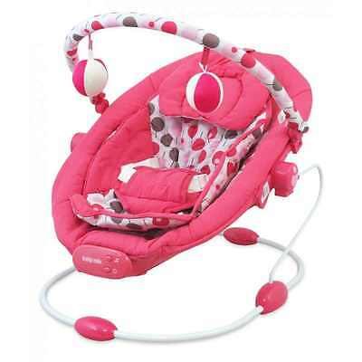 Baby Vibrating Musical Bouncer, Baby Rocker Chair, Hanging Toys Pink
