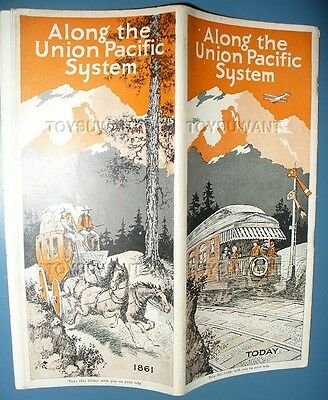 Along The Union Pacific System 1928 Travel Guide Railroad Overland Trail Booklet