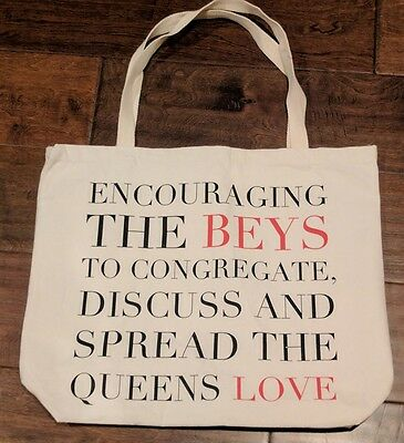 BEYONCE RARE MRS CARTER WORLD TOUR TOTE BAG Spread Queens Love Uk Beyhive