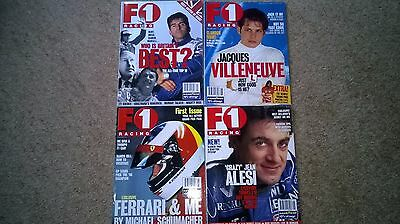 F1 RACING magazine ISSUE 1 + 3 other issues from 1996 Very Good