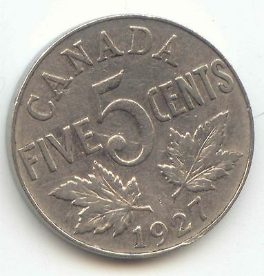 Canada 1927 Canadian Nickel 5c Five Cent Piece EXACT COIN SHOWN