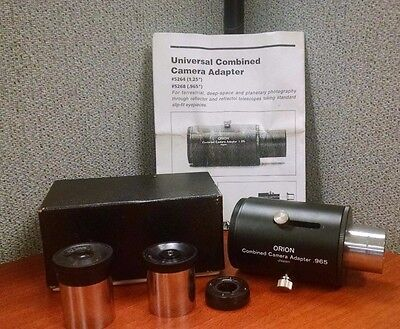 """Orion Universal Camera Adapter .965"""" #05268 + Accessories"""
