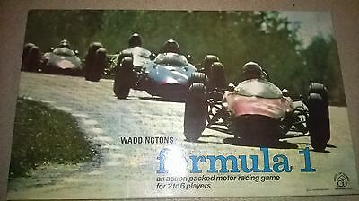VINTAGE complete BOXED F1 formula one BOARD GAME Waddingtons 1960's