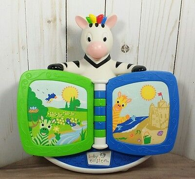 Baby Einstein Zebra Musical Light Up Flip Book Crib Toy - Seasons, WORKS!