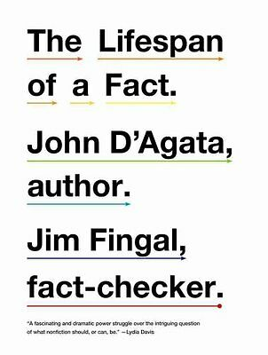 The Lifespan of a Fact by John D'Agata 9780393340730 (Paperback, 2012)