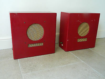 Pair Vintage 40s 50s TANNOY Style Loudspeakers Cabinets TV Theatre Film Goodwood