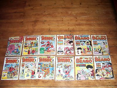 Twelve Dandy And Beano Comics With Free Gifts D C Thomson Inc Beano #3000